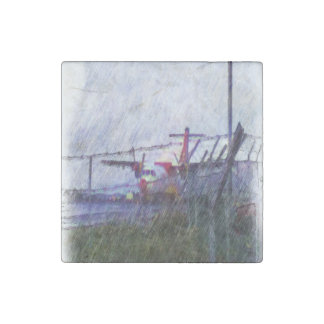 Airplane Stone Magnet