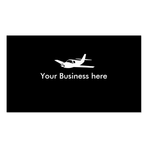 Airplane symbol customizable business cards