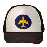 Airplane Symbol in Circle Mesh Hats