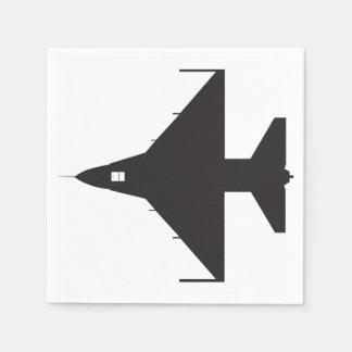 Airplane Symbol Paper Napkins