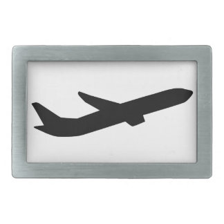 Airplane take off depature rectangular belt buckles