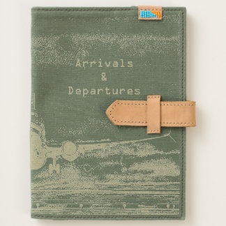 Airplane take off on runway journal