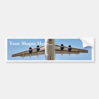 Airplane Takeoff High Car Bumper Sticker