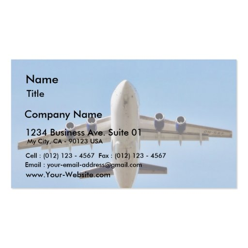 Airplane Takeoff High Double-Sided Standard Business Cards (Pack Of 100)