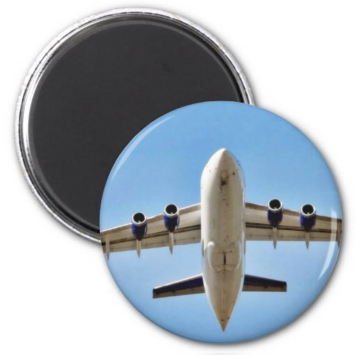 Airplane Takeoff High Fridge Magnet