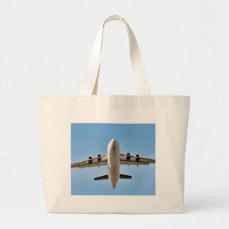 Airplane Takeoff High Jumbo Tote Bag