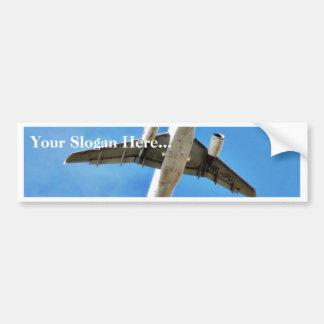 Airplane Takeoff On Blue Sky Car Bumper Sticker