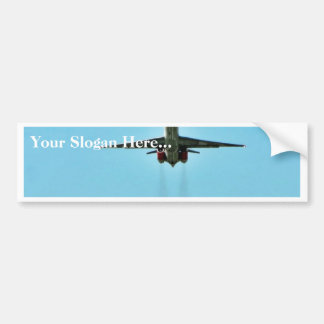 Airplane Taking Off On Airport Car Bumper Sticker