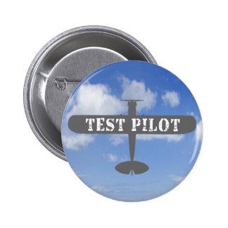 Airplane & Test Pilot Pinback Button