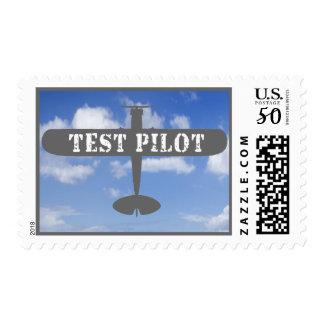 Airplane & Test Pilot Postage