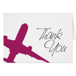 Airplane Thank You's Greeting Cards