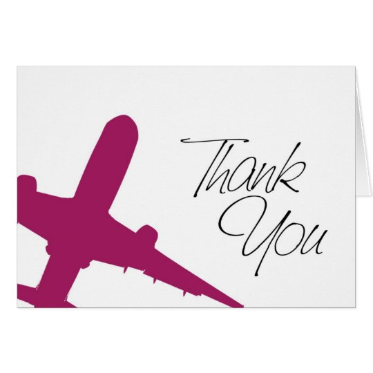 Airplane Thank You's Card