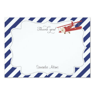 Airplane Thank You Card