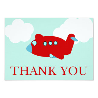 Airplane Thank You note card