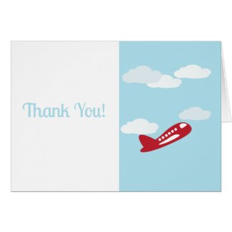Airplane Thank You Note Cards