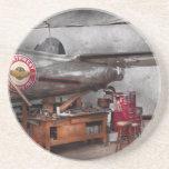 Airplane - The repair hanger Beverage Coaster
