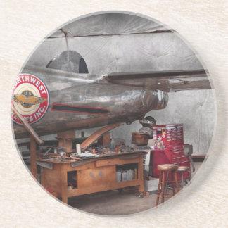 Airplane - The repair hanger Drink Coasters