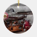 Airplane - The repair hanger Christmas Tree Ornament