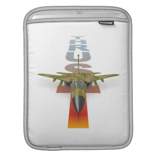 Airplane Thrust: Supersonic fighter jet, Air Force iPad Sleeve
