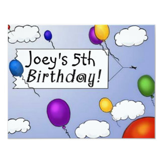 Airplane Towing Sign BIRTHDAY PARTY INVITATION