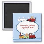 AIRPLANE & TRAIN Baby Shower Favor Magnet