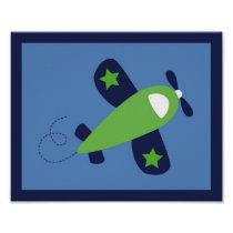 Airplane Transportation Boy Nursery Wall Art Print