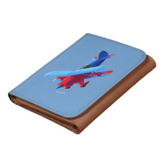 Airplane Trifold Wallet