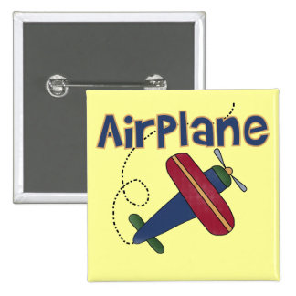 Airplane Tshirts and Gifts 2 Inch Square Button