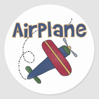 Airplane Tshirts and Gifts Round Sticker