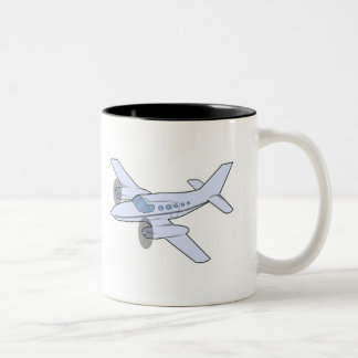 Airplane Two-Tone Coffee Mug