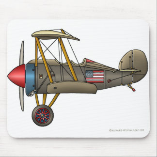 Airplane Vintage Biplane Mouse Pad