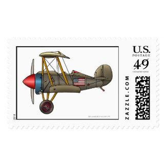 Airplane Vintage Biplane Stamps