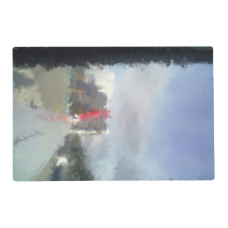 airplane wing laminated placemat
