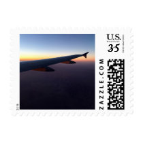 Airplane wing postcard postage