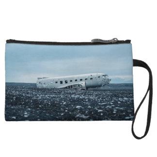 airplane wristlet wallet