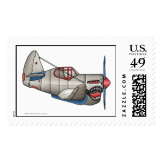 Airplane WW2 Fighter Plane Stamps