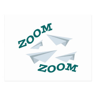 Airplane Zoom Postcard