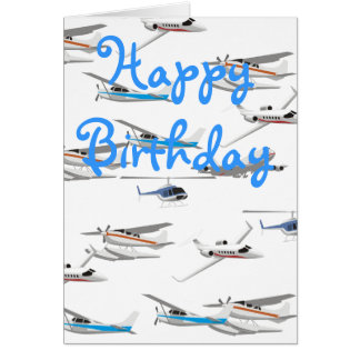 Airplanes birthday card