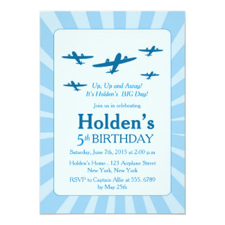 Airplanes Birthday party Invitations