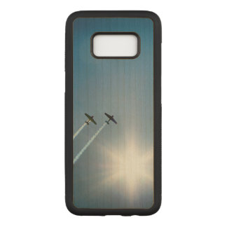 Airplanes Flying on Blue Sky with Sun. Carved Samsung Galaxy S8 Case