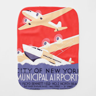 Airplanes Flying Vintage Propeller Planes Burp Cloth