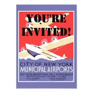 Airplanes Flying Vintage Propeller Planes Card