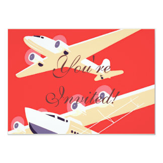 Airplanes Flying Vintage Propeller Planes Card