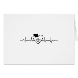 Airplanes Heartbeat Funny Pilo Card