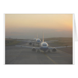 Airplanes on a Runway Card