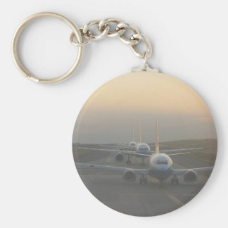 Airplanes on a Runway Key Chain