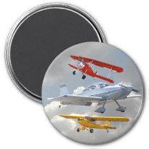 AIRPLANES REFRIGERATOR MAGNETS