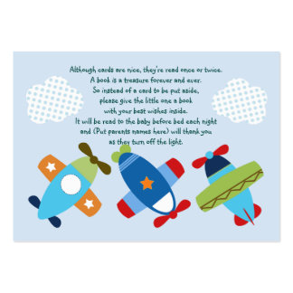 Airplanes Taking Flight Favor Tag/Card Large Business Card