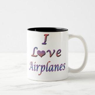 airplanes Two-Tone coffee mug