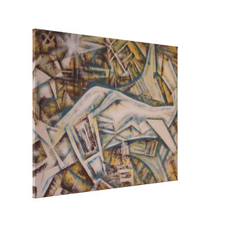 Airport abstract canvas print